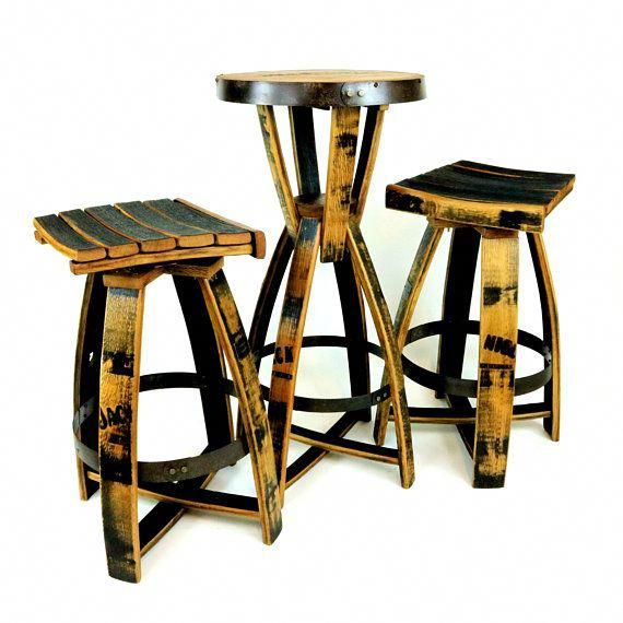 Jack Daniels Bar Table With Bar Stools Tennessee Whiskey Barrel