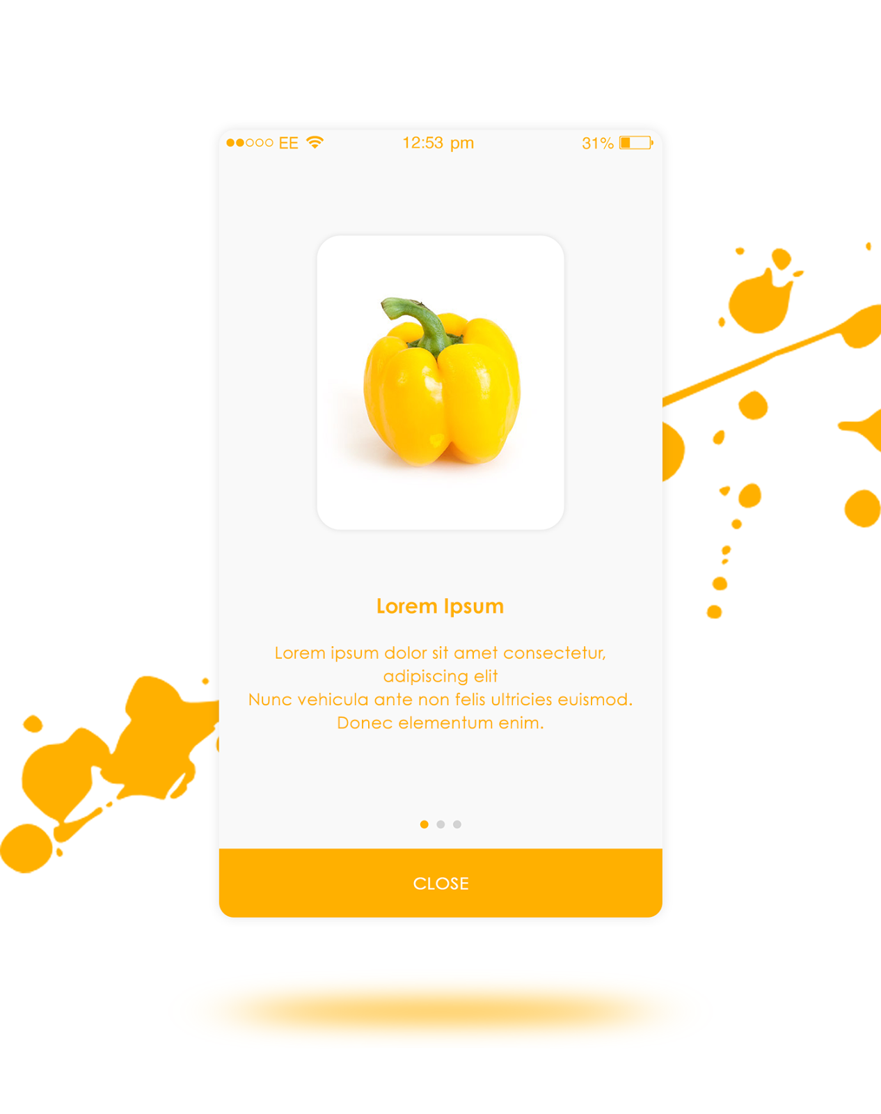 grocery app introduction slides for android and ios app creative