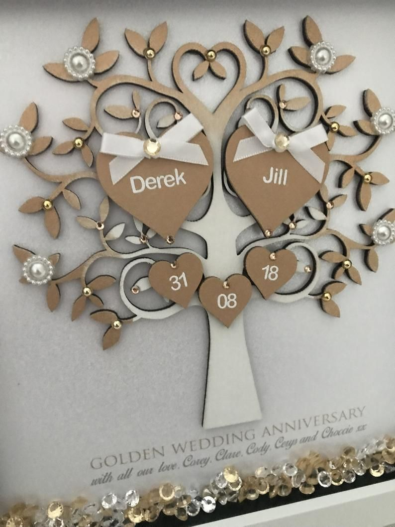 Golden Wedding Anniversary Gift 50th Anniversary Gift 50th