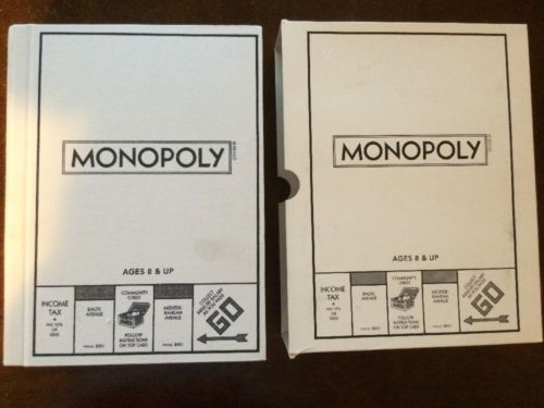 Monopoly Bookshelf Classic Collectors Edition Family Board Game