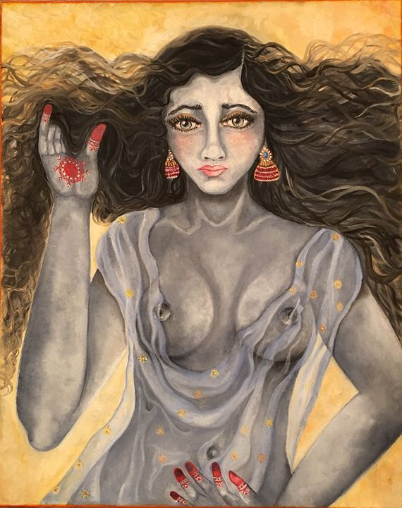 Allure - Kriyaarts - Paintings & Prints People & Figures Other People & Figures… | ArtPal thumbnail