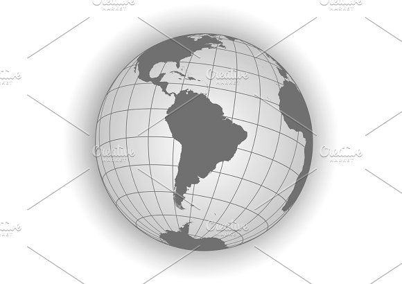 South america vector map Graphics South America map Antarctica