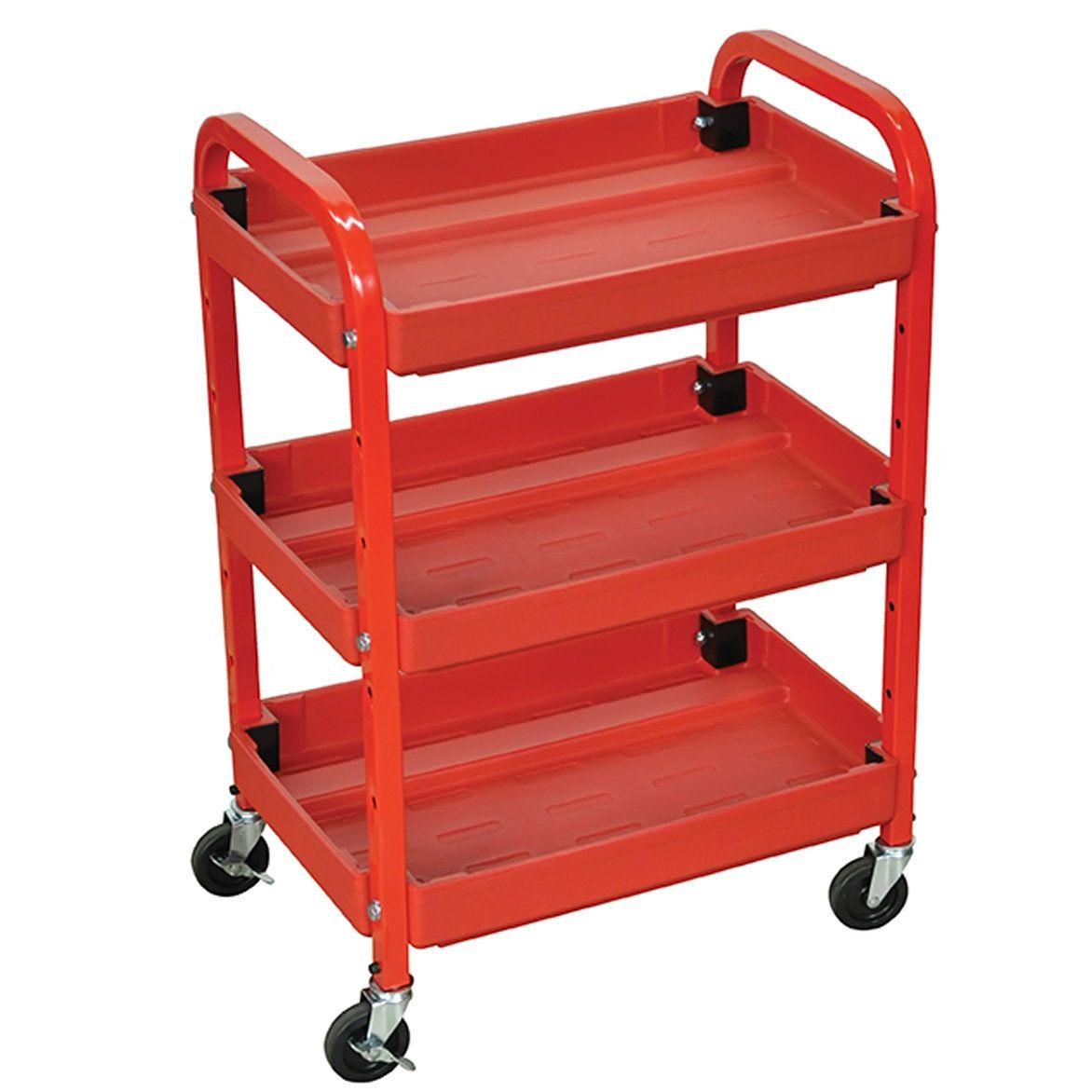 3 Shelf Utility Cart Tool Cart Utility Cart Tool Steel