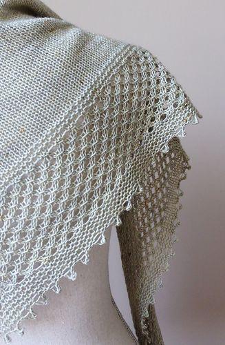 Ghost Gardens Shawlette pattern by Kelene Kinnersly