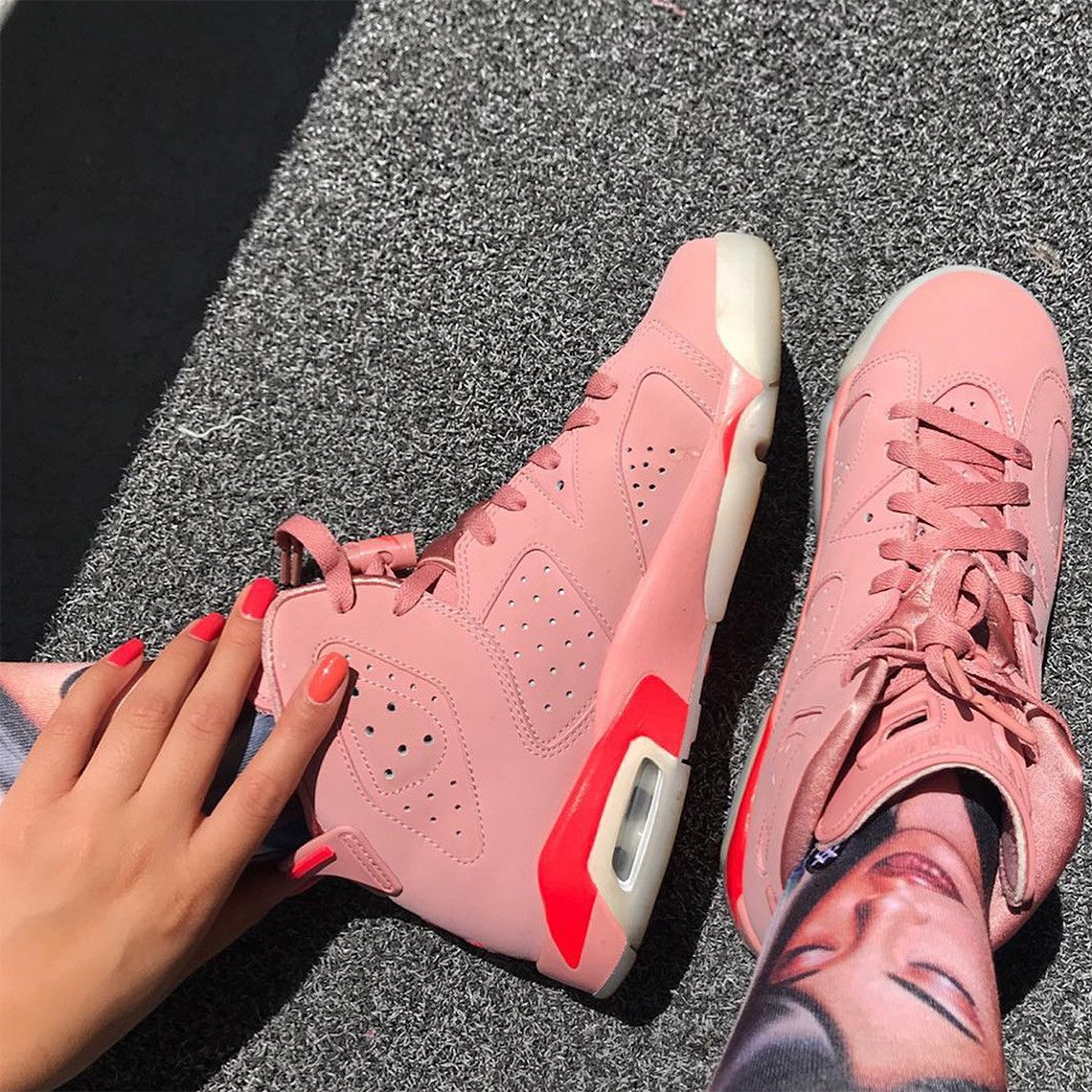 05d7a43426c Is Aleali May Hinting At A Release Of Her Pink Air Jordan 6? | Air ...