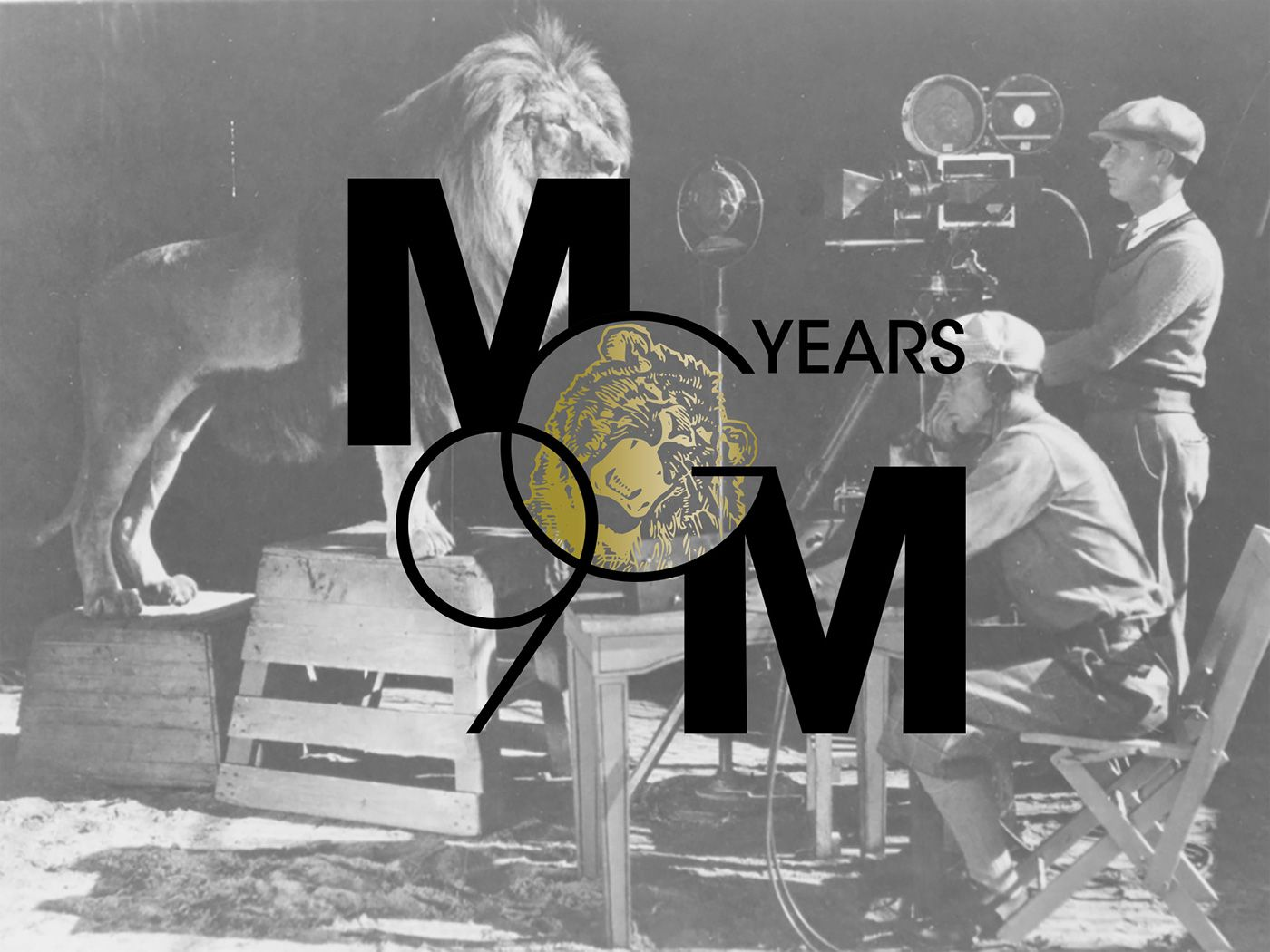 Logo and stationery creation exercise for Metro Goldwyn Mayer Studios 90th anniversary.
