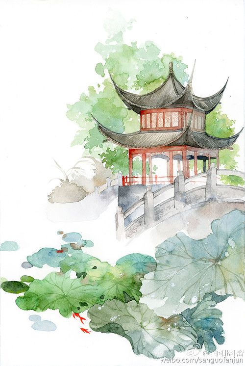 סין China Aquarelle Japonaise