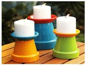 Terra Cota pots decor for the outdoors!