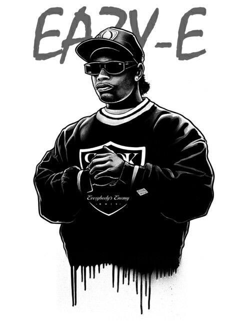 Eazy E Rap Hip Hop Art 80s Hip Hop Rapper Art