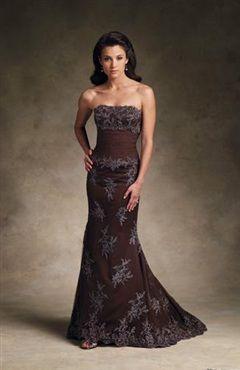 Fuschia Brown Evening Dresses