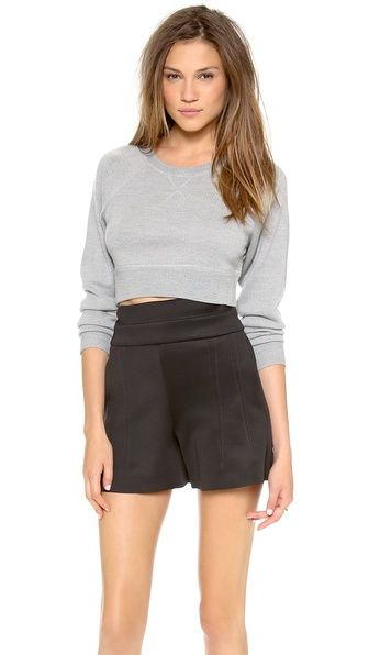 Cropped sweatshirt. Robert Rodriguez