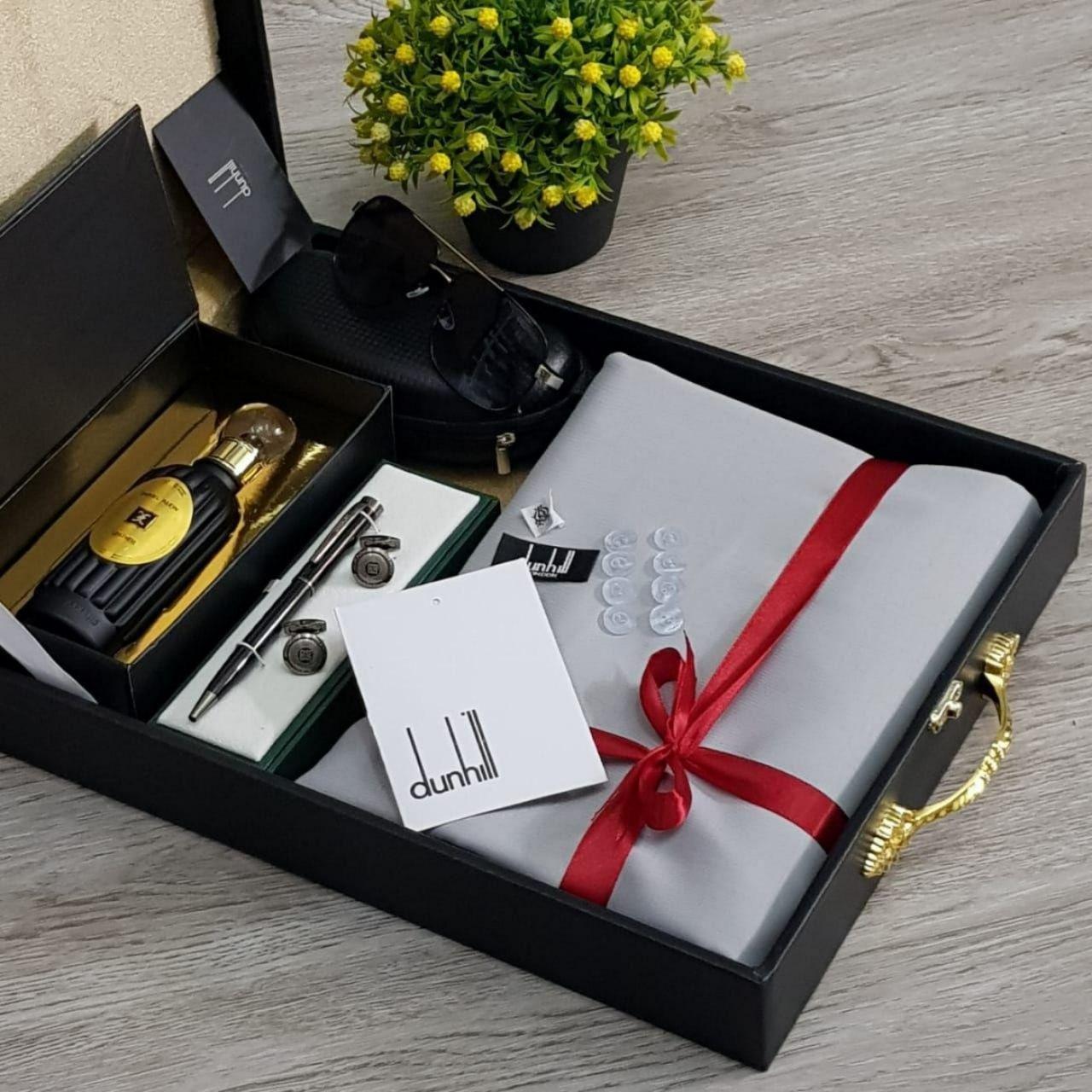 قماش دنهل رجالي Dunhill شتوي مع قلم و كبك و نظارات و عطر هدايا هنوف Gifts Hermes Kelly Top Handle Bag