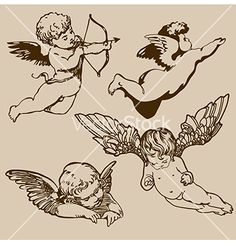 Angels vector image on VectorStock