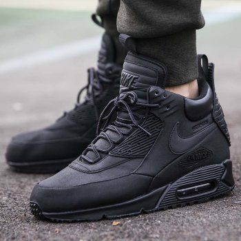 buty nike air max 90 sneaker boot winter dark loden shirt