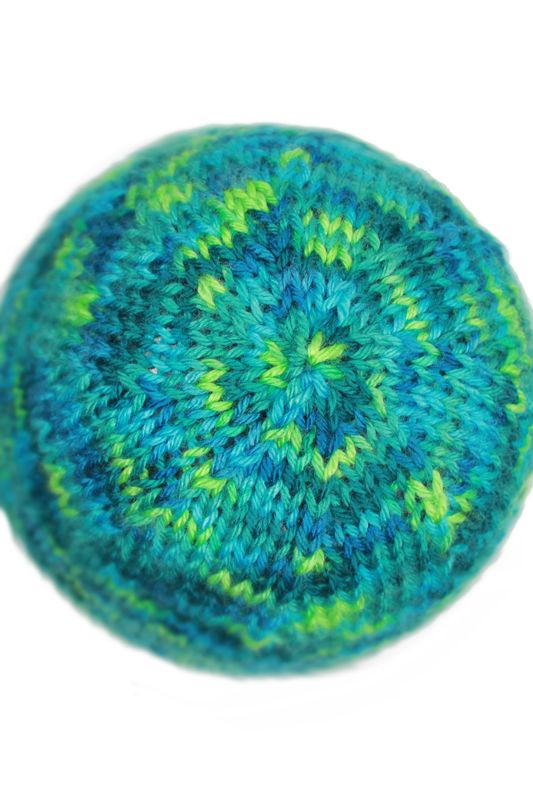 Knitting Pattern Basic Knit Beanie Hat In Peacocks Blue And And