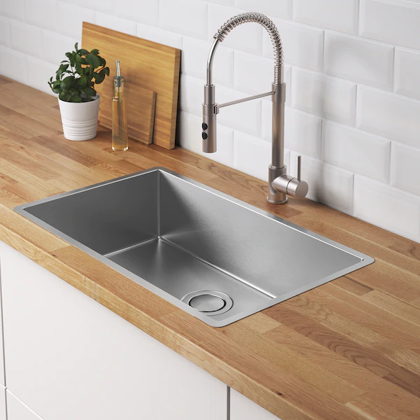 Ikea Norrsjon Stainless Steel Sink In 2020 Inset Sink Sink Kitchen Design