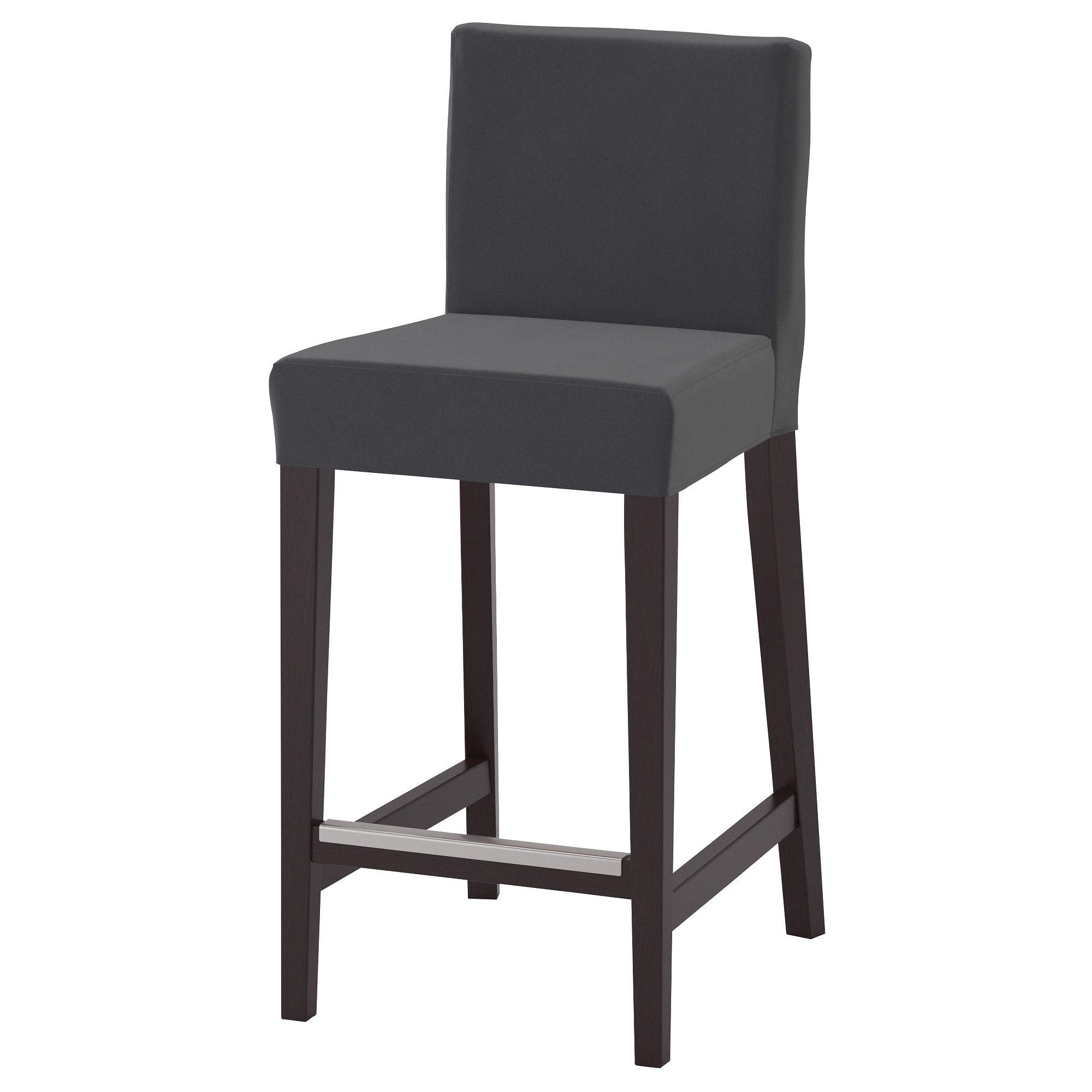 Stuhl Ikea Leder Mit Teal Henriksdal Barhocker LehneBraunSchwarz VqMSUzp