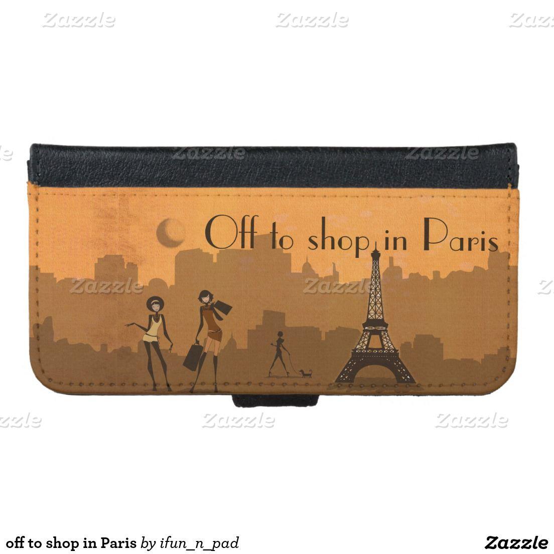 off to shop in Paris iPhone 6 Wallet Case