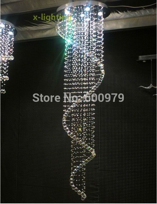 New Modern Crystal Spiral Chandelier Lighting Fixture #Affiliate ...