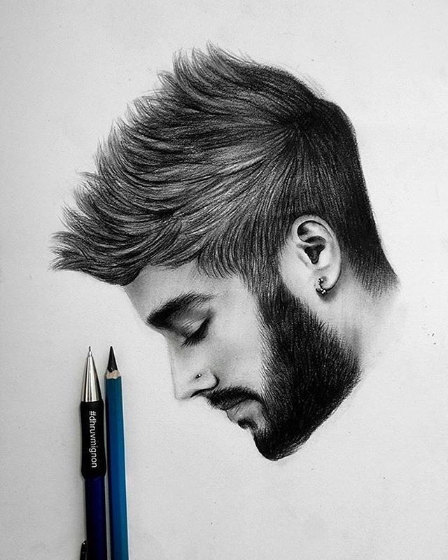 Amazing drawing of zayn malik by dhruvmignon follow artistic explorer