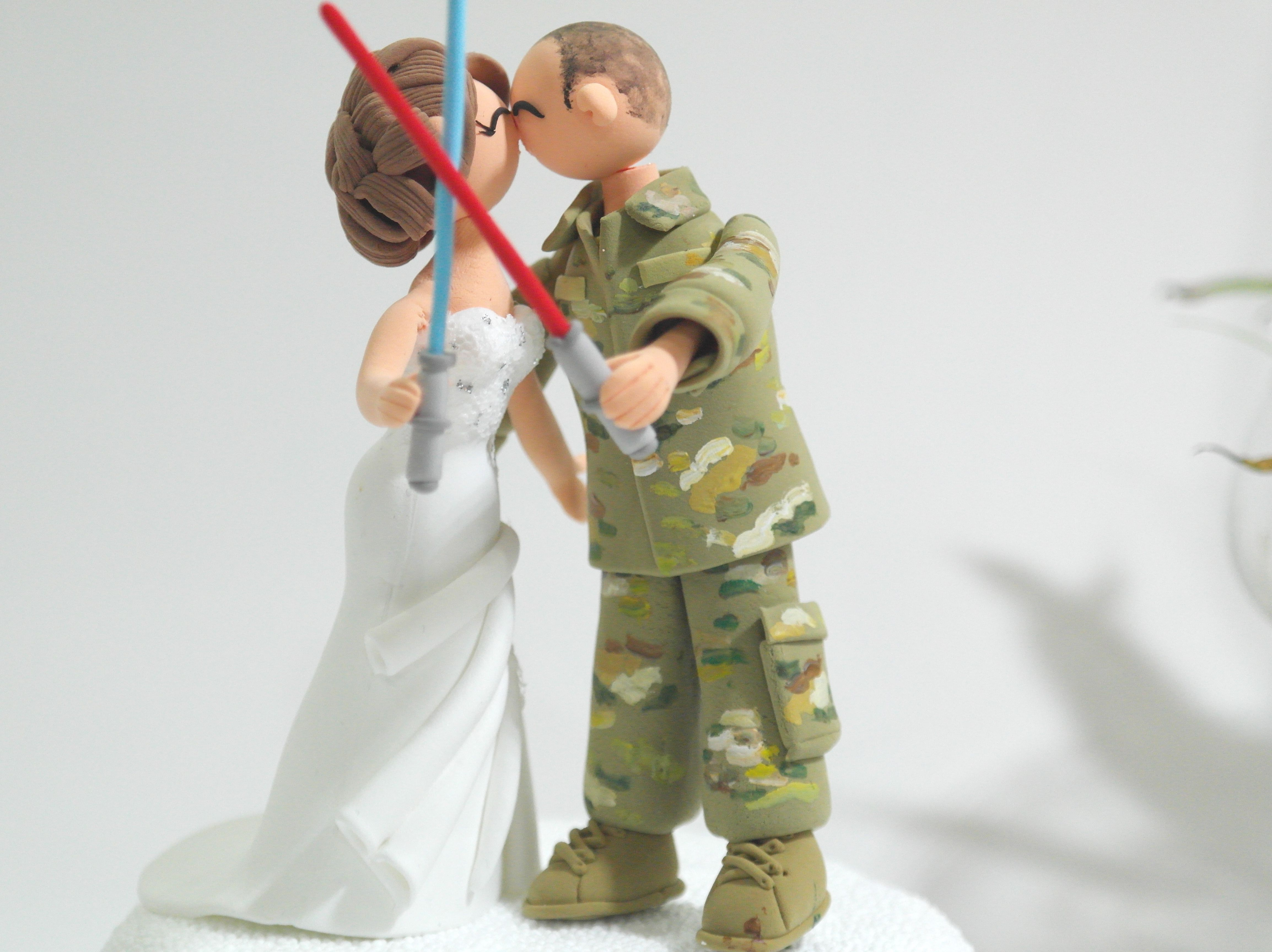 Another version of Star Wars theme wedding cake topper   Wedding ...