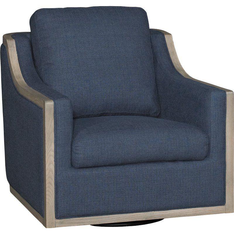 Best Midnight Navy Blue Swivel Barrel Accent Chair Bayly 400 x 300