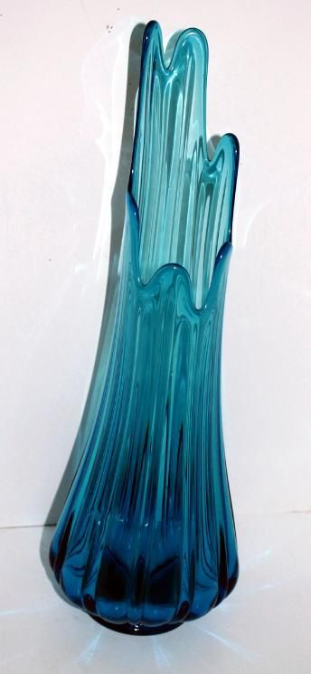 Mid Century Viking Glass Swung Floor Vase Viking Glass Glass