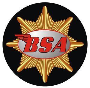 Bsa Classic Logo Motorcycle Helmet Sticker Bsa Motorcycle - Classic motorcycle custom stickers