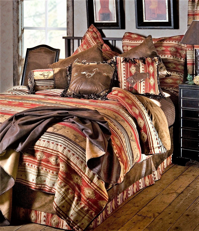 Southwestern Bedding Flying Horse Navajo Comforter Set