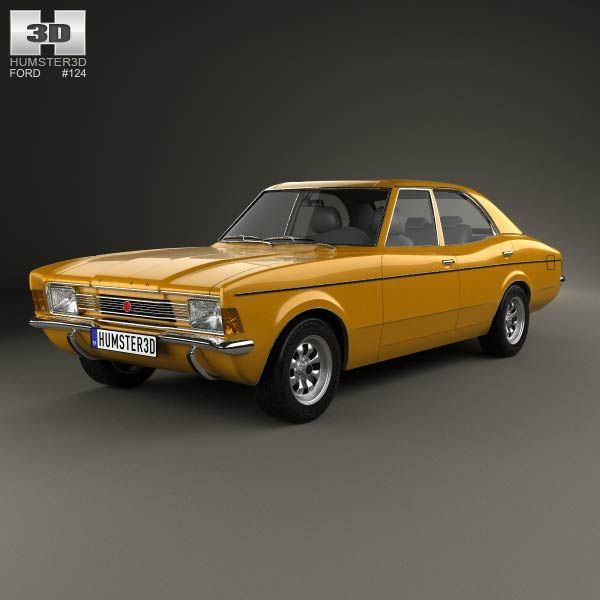 Bmw Z4 Fastback: Ford Cortina TC Mark III Sedan 1970 3D Model