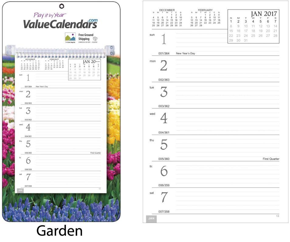 2017 Weekly Memo Board, Image Calendar | Printed Board Advertising ...