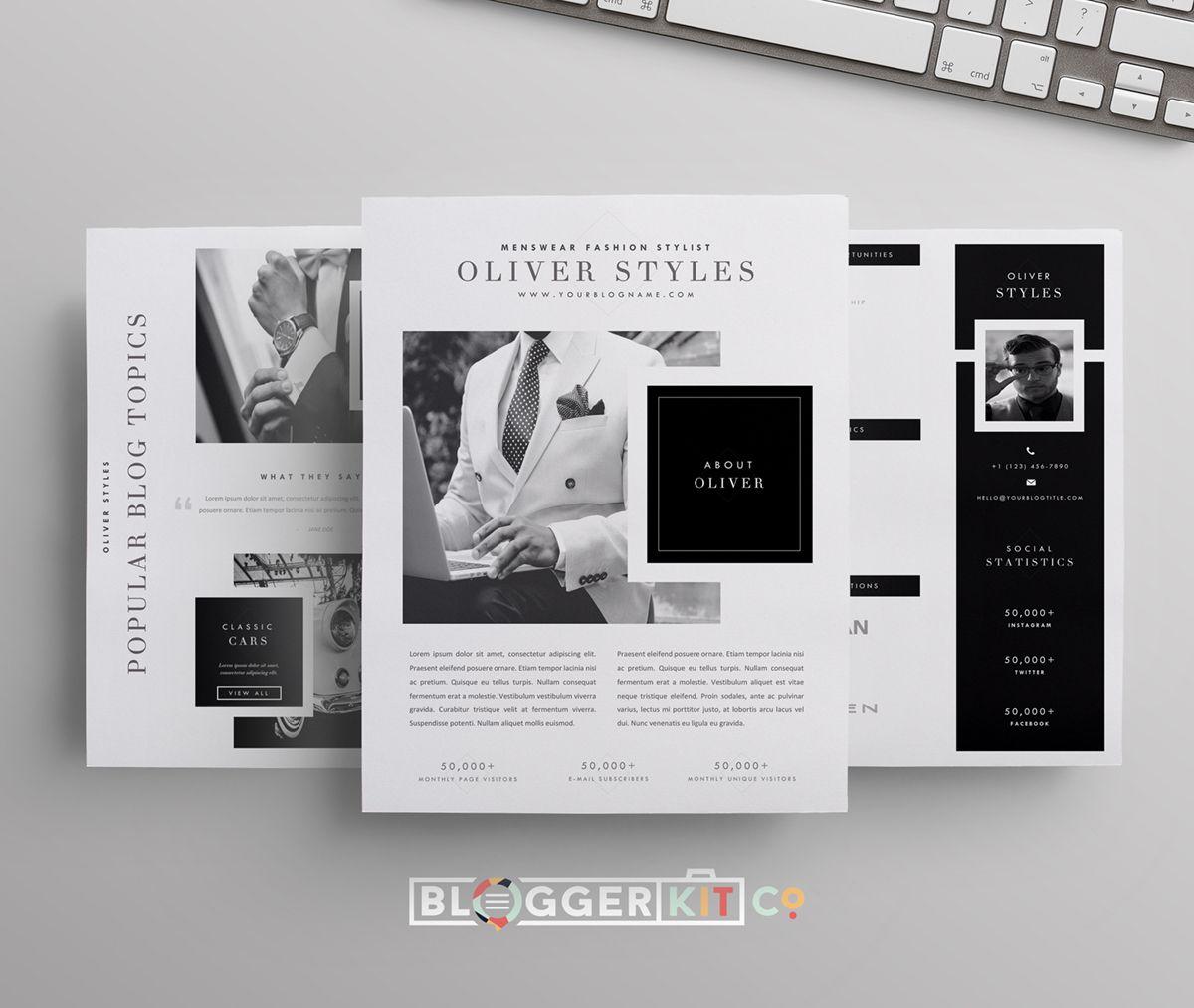 Dapper Blogger Media Kit Template Media Kit Template Press Kit