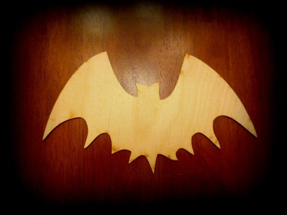 Bat Craft Shapes Outlines Cutouts Wood Unfinished Diy You Decorate
