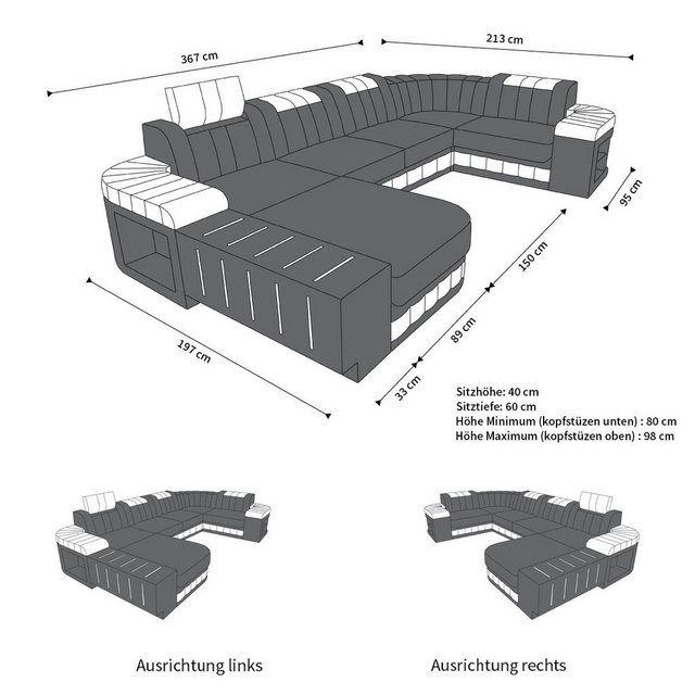 Wohnlandschaft »Bellagio«, U Form #productiondesign