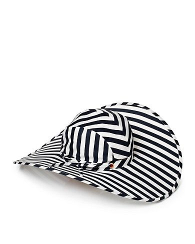 Printed Striped Packable Sun Hat