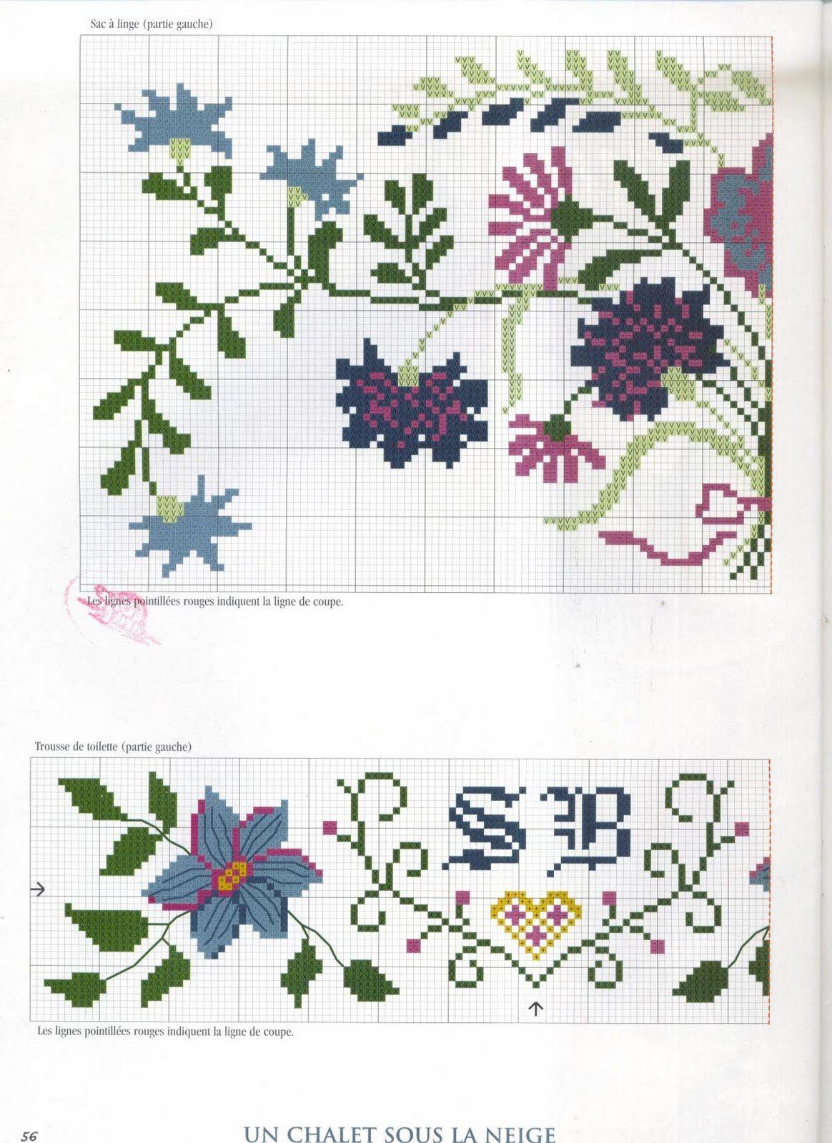 تطريزات ايتامين منوعه x stitch different patterns اضغطي علي الباترون ...