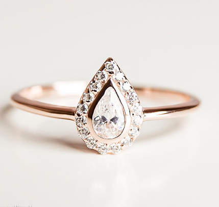 e473432528c5b0 18 Jaw Dropping Engagement Rings That Are Under $500 | Rings | Pear ...