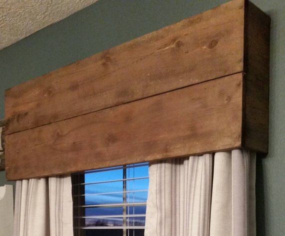 Cornice Board Valance Rustic Wooden