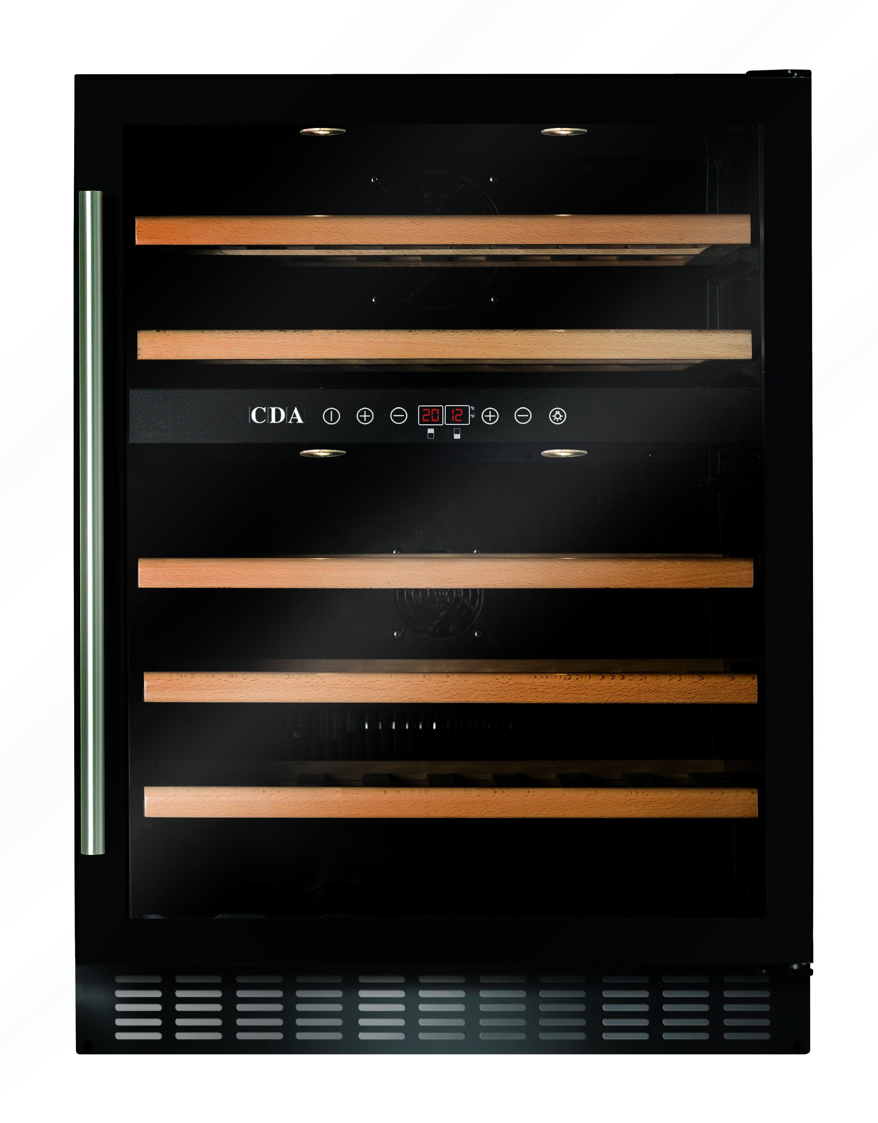CDA FWC603BL Freestanding Wine Cooler in Black Wine
