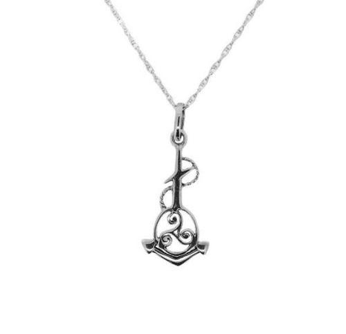 Outlander Inspired Anchor Triskele Silver Pendant   Scottish Jewellery