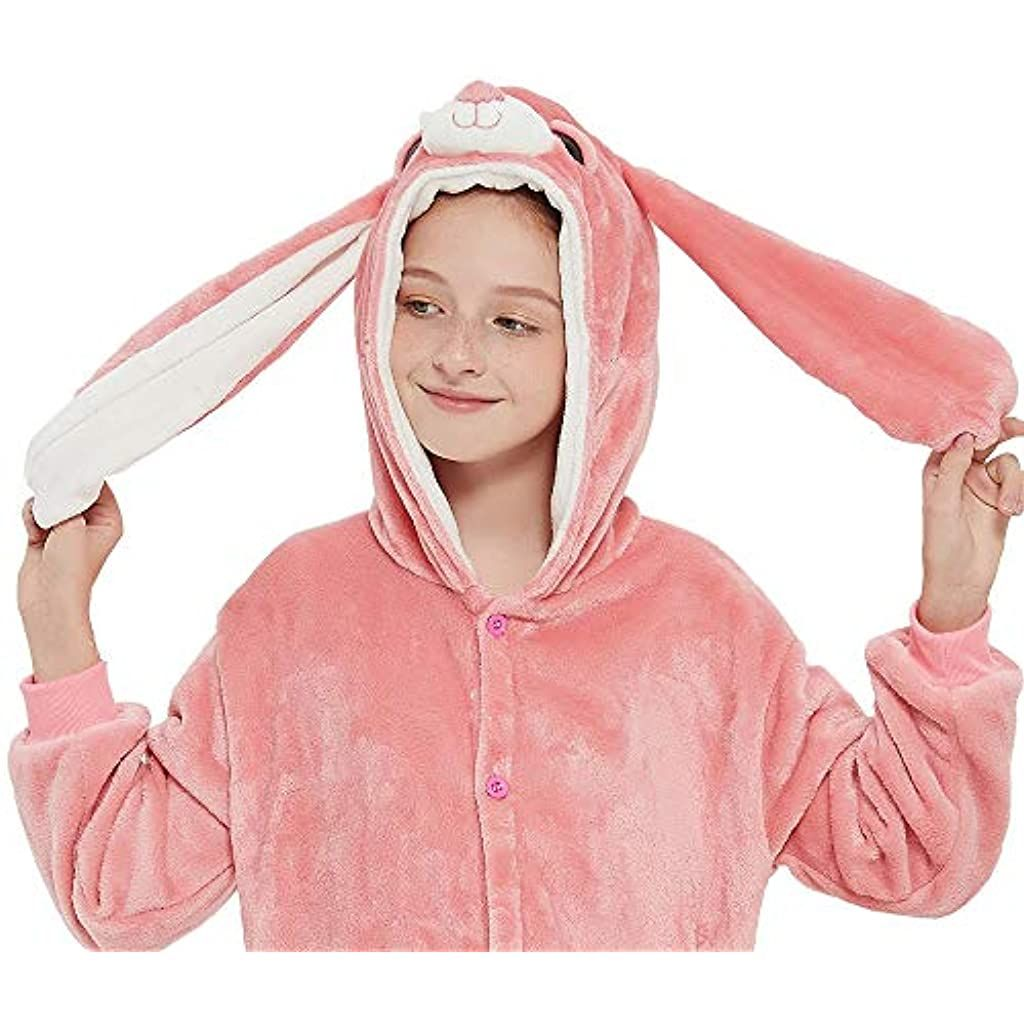 ANBOTA Easter Bunny Costume Rabbit Onesie for Kid Girl Boy Halloween Pajama