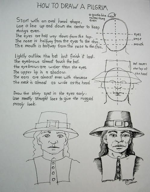 How To Draw A Pilgrim