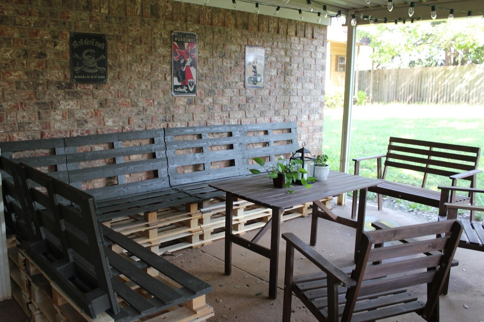 How To Make Patio Furniture Out Of Skids - Decoraciones Party