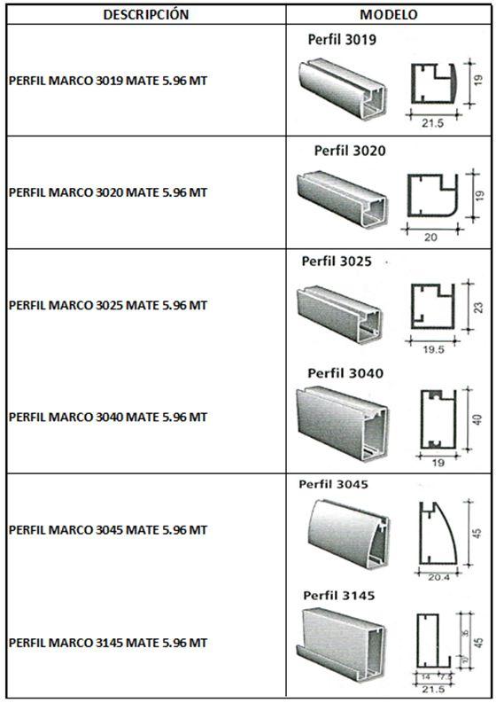 Perfiles de aluminio proyecto pinterest perfiles de for Perfiles de aluminio para toldos de palilleria