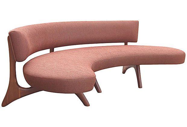 vladimir kagan style curved sofa on onekingslane com furniture rh pinterest com