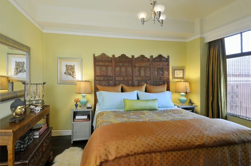 Adeeni Design Group bedroom in a downtown