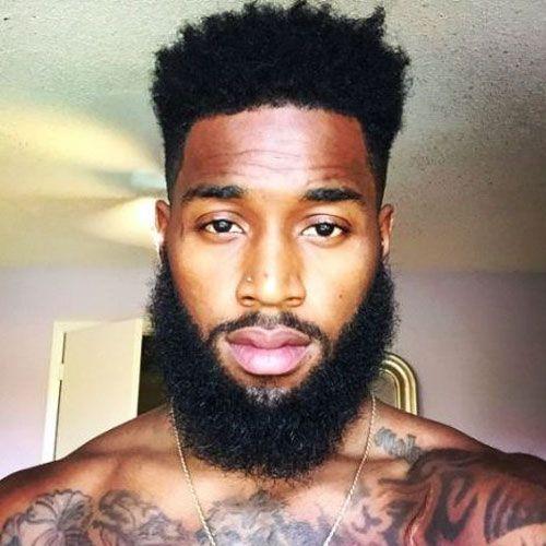 Thick chin strap beard