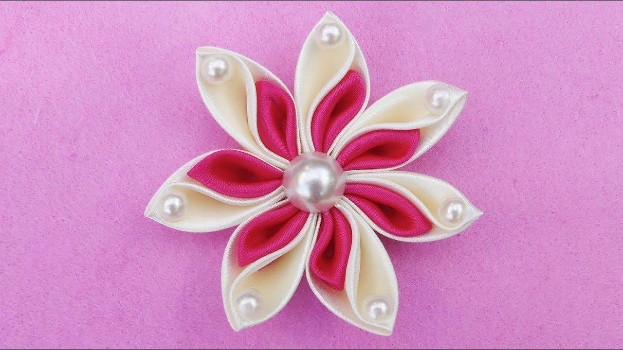 Fiori Kanzashi Tutorial.Diy Ribbon Flower I How To Make Kanzashi Ribbon Flower I Flower