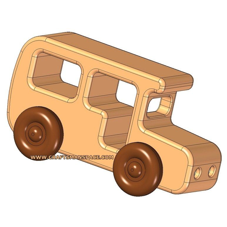 Wooden bus kids toy plan | Projects | Pinterest | Toy ...