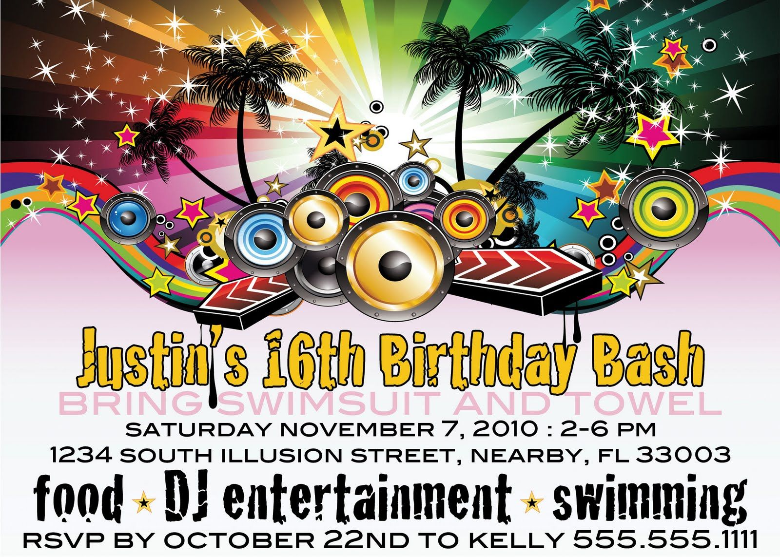 Awesome 16th Birthday Invitations For Boys